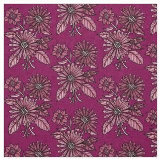 Wine Floral Bouquet Fabric