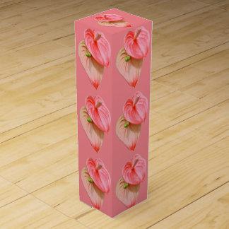 Wine Gift Box - Oilcloth Flower