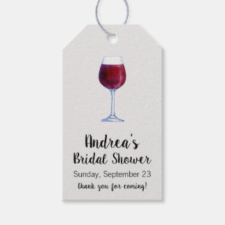 Wine Gift Tags or Wine Tasting Favour Tags