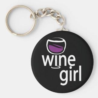 Wine Girl Keychain