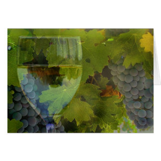 Wine Glass and Grapes Cheers Happy Birthday! Card