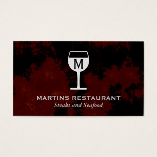 Wine Glass | Artistic (black,red) Business Card