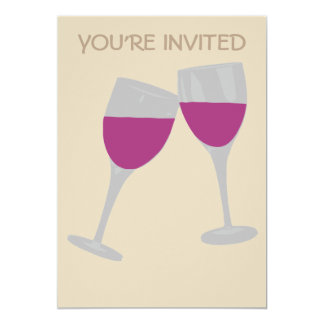 WINE GLASS CELEBRATION WEDDING INVITATION