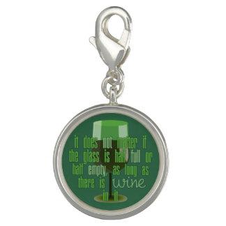 Wine Glass charm / charm bracelet
