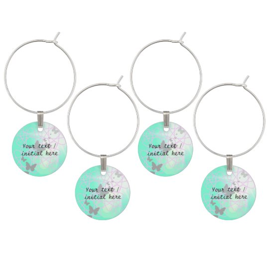 Wine Glass Charms with Butterflies - Customisable