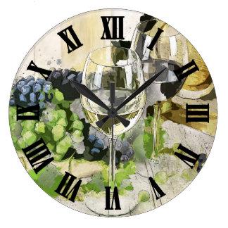 Wine Glass Digital Design Large Clock