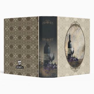 wine glass grapes wine journal recipe binder