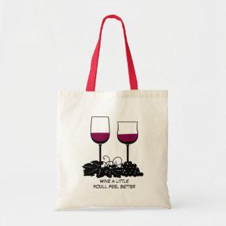 Wine glass illustration tote bag
