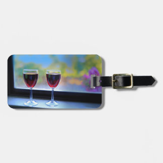 Wine Glass Luggage Tag