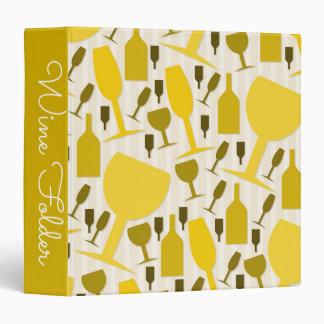Wine glass pattern 3 ring binder