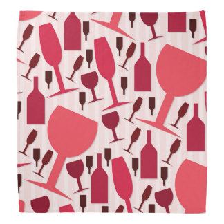 Wine glass pattern bandana