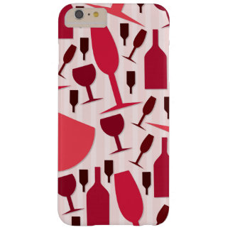 Wine glass pattern barely there iPhone 6 plus case