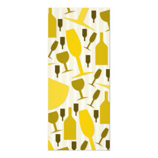 Wine glass pattern card