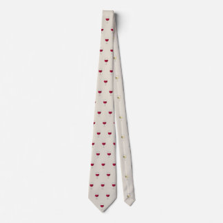 Wine glass pattern design tie