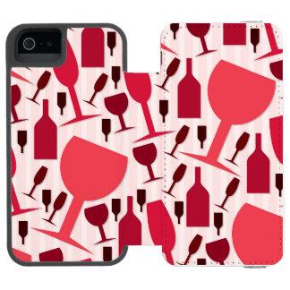 Wine glass pattern incipio watson™ iPhone 5 wallet case