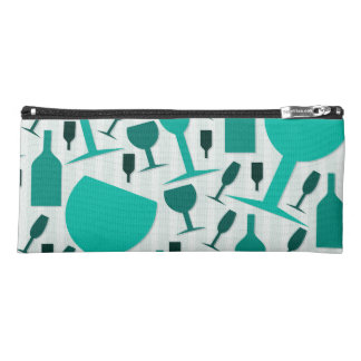 Wine glass pattern pencil case