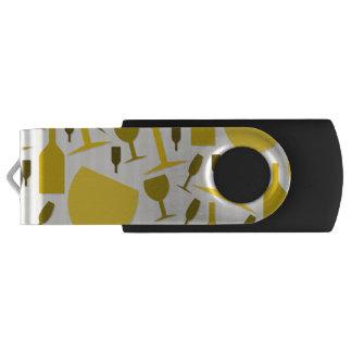 Wine glass pattern swivel USB 2.0 flash drive