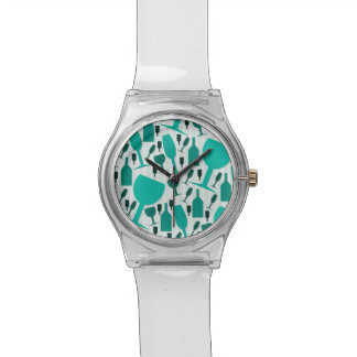 Wine glass pattern wrist watch