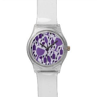 Wine glass pattern wristwatches