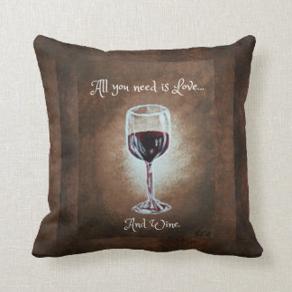 Wine Glass Pillow