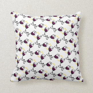 Wine Glass Pillow White