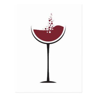 Wine glass postcard