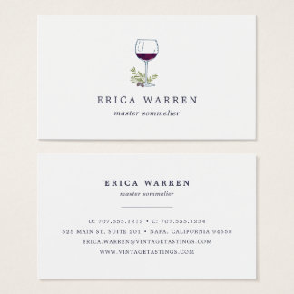 Wine Glass | Sommelier or Wine Industry Business Card