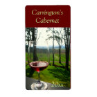 Wine Glass Wine Label