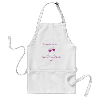 wine-glasses, I love cooking with Wine.Sometime... Standard Apron