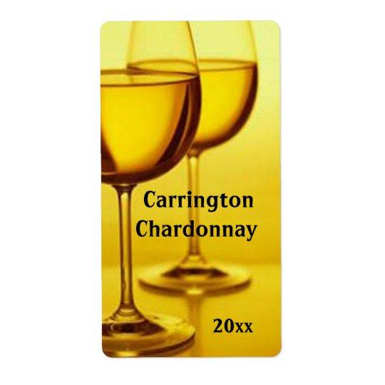 Wine Glasses Wine Label