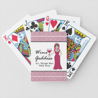 """Wine Goddess """"All Things Heal With WIne"""" Bicycle Playing Cards"""