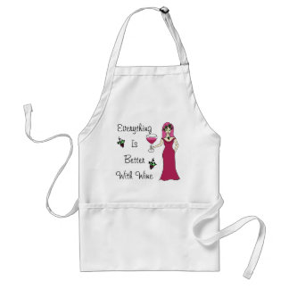"Wine Goddess Simply Divine ""Better With Wine"" Standard Apron"