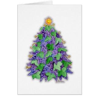 Wine Grapes Christmas Tree Card