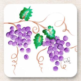Wine Grapes Coasters - Square