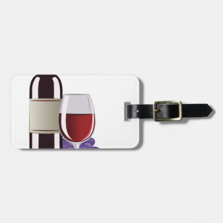 Wine & Grapes Luggage Tag