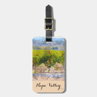 Wine Grapes on the Vine in Napa Valley Luggage Tag