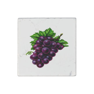 Wine Grapes Purple Stone Magnets