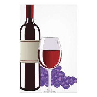 Wine & Grapes Stationery Paper