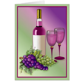 Wine & Grapes Toast Card