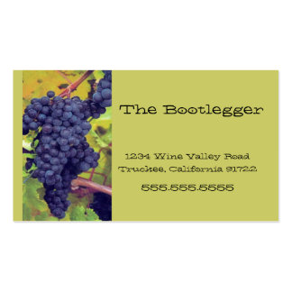 Wine Grapes Vineyard Italian Resturant Business Card