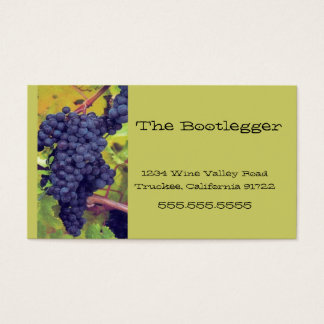 Wine Grapes Vineyard Italian Resturant Business Card