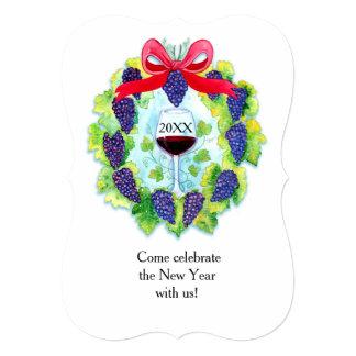 Wine Grapes Wreath 5x7 Invitation Bracket