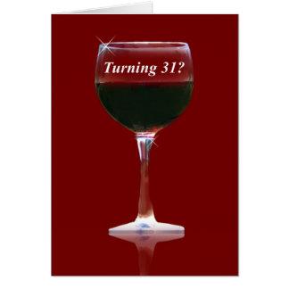 Wine Happy 31st Birthday Card