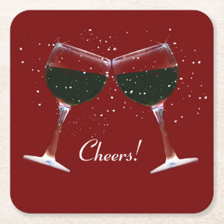 Wine Holiday Party Coasters