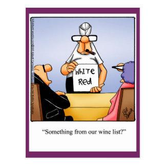 "Wine Humor Postcard ""Spectickles"""