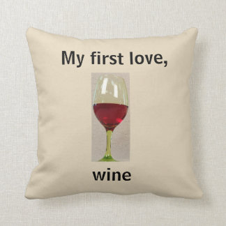 Wine Humor Throw Pillow
