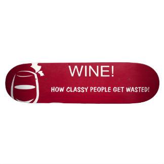 Wine illustration custom skate board
