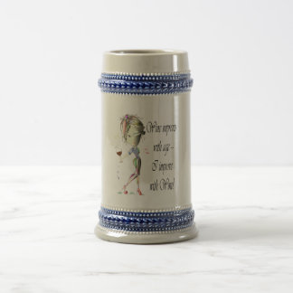 Wine improves with age, humorous art gifts 18 oz beer stein