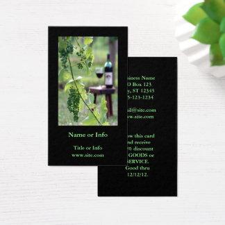 Wine in Vineyard Business Card
