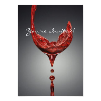Wine invitation card
